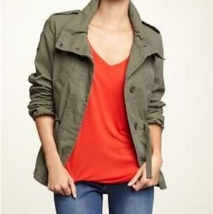 Gap Funnel Neck Military Kale Jacket Size Small
